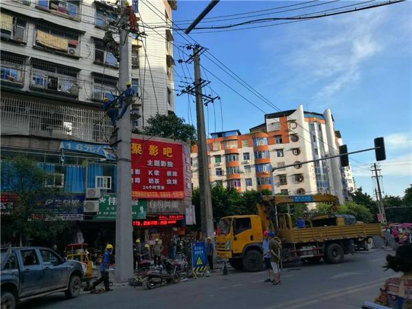 广安岳池爱众:战斗在烈日下的电力人